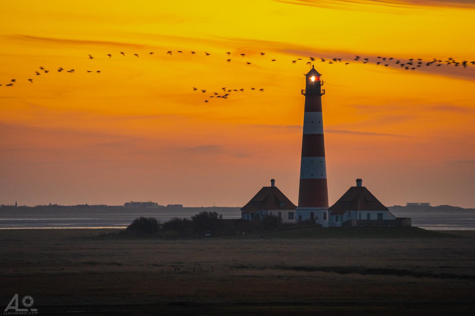 Nordsee Westerhever Leuchtturm