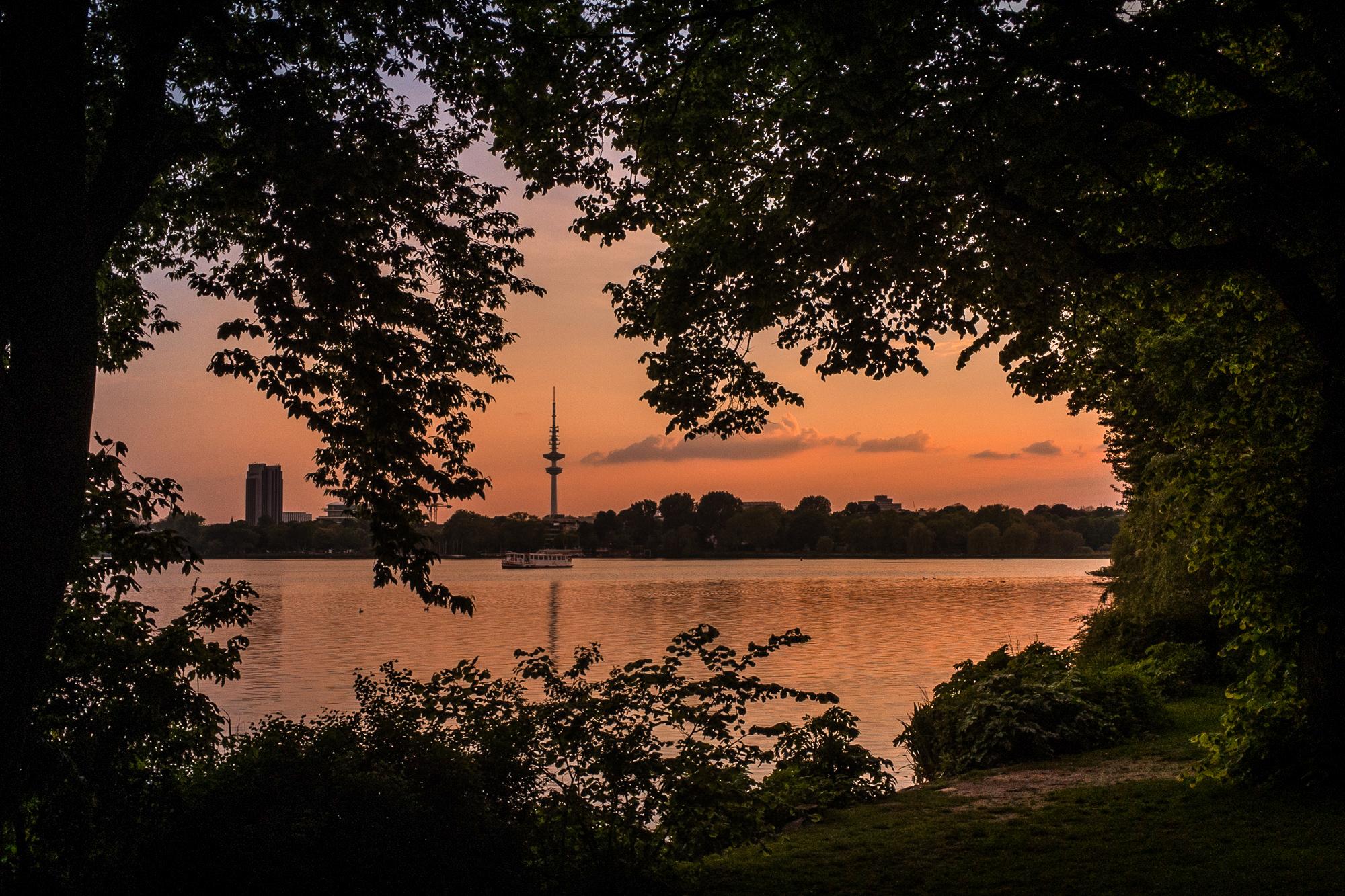Alster, Sonnenuntergang