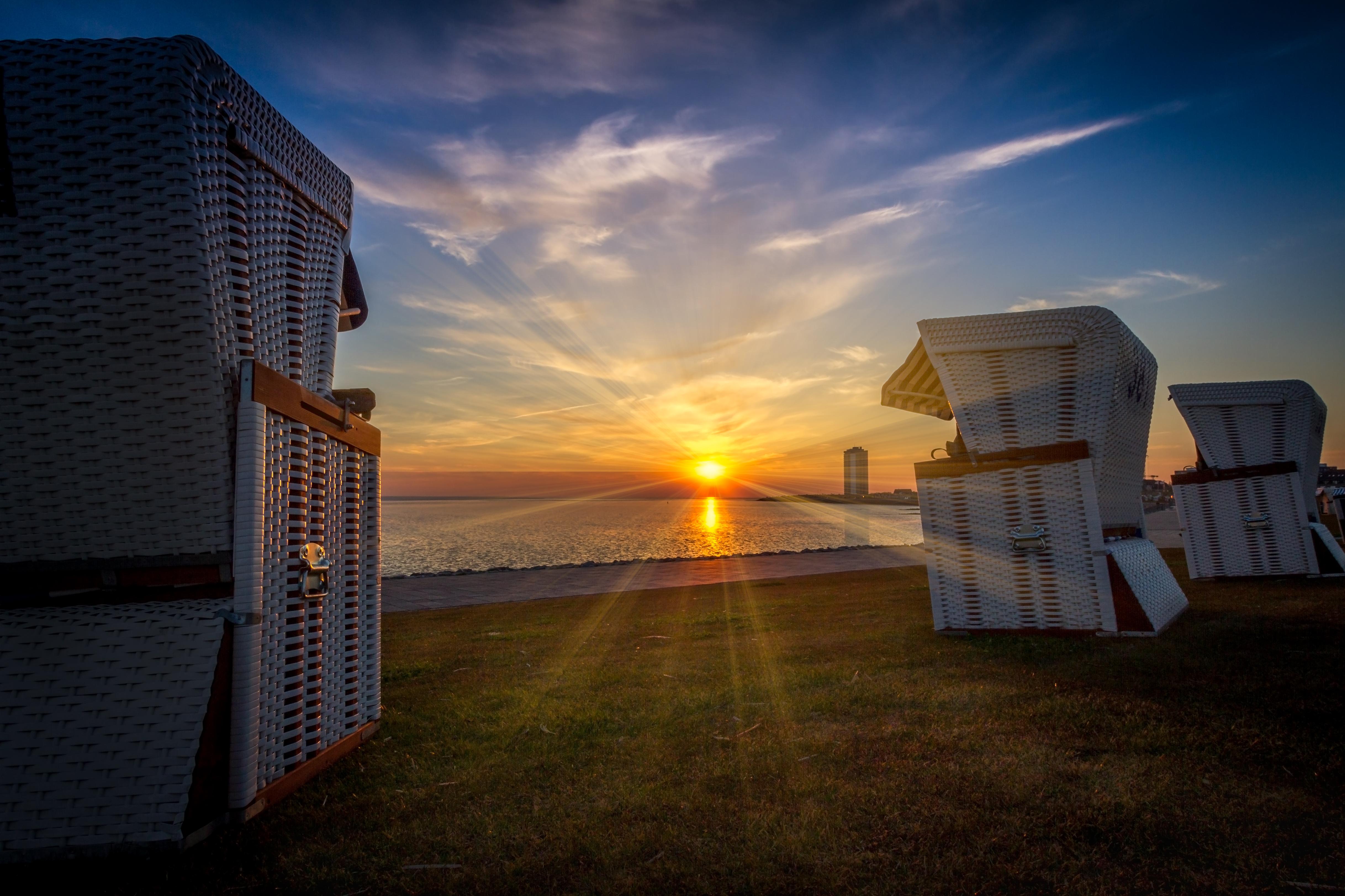 Nordsee, Büsum, die letzten Sonnenstrahlen