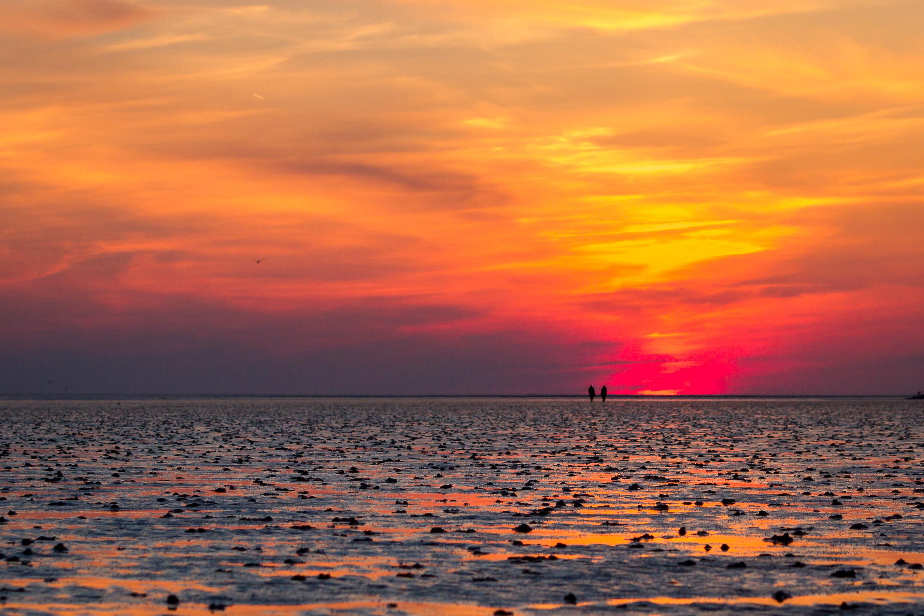 Nordsee, Sonnenuntergang