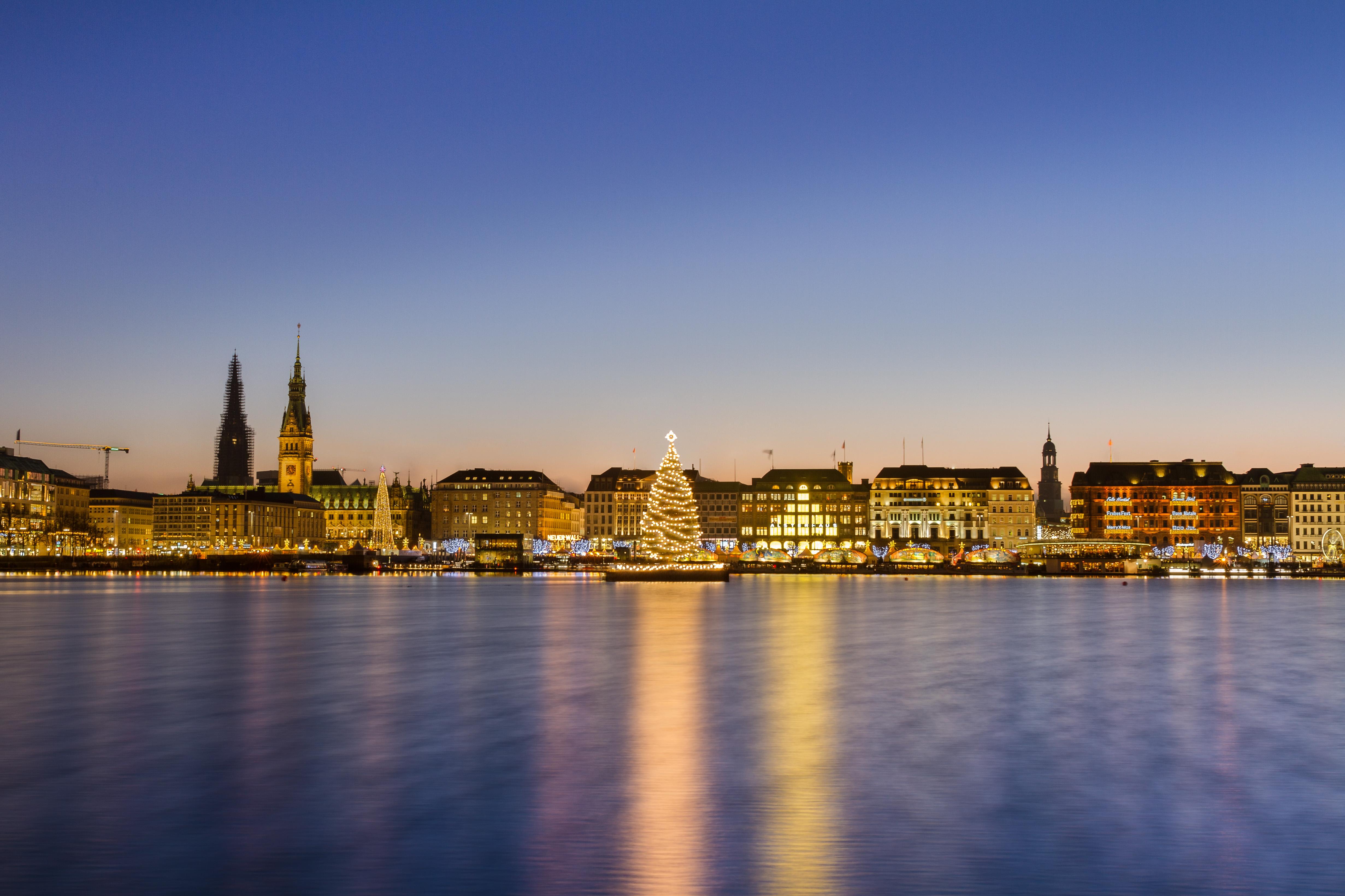 Hamburg, Weihnachten, Alster