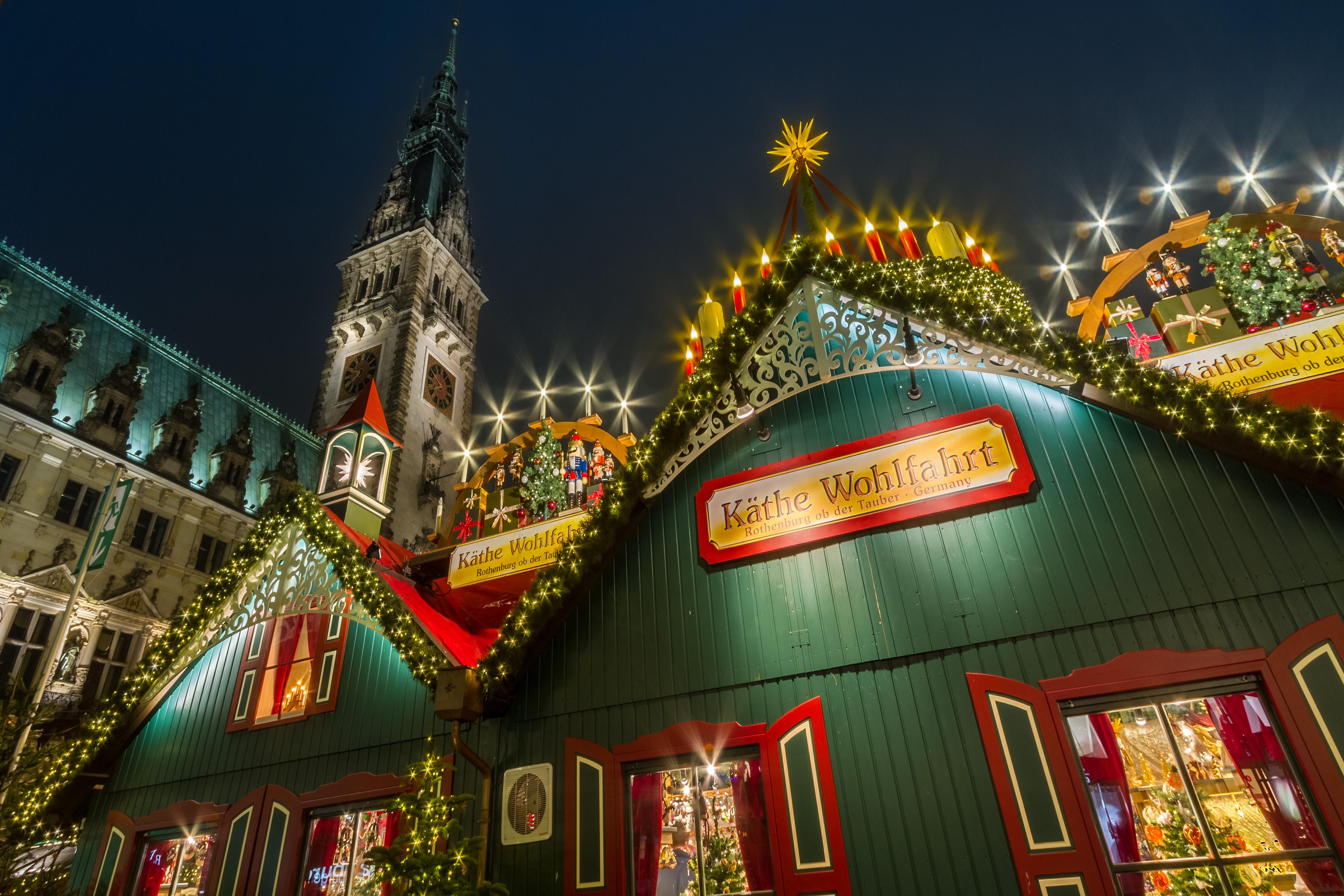 Hamburg, Weihnachtszeit, Rathaus
