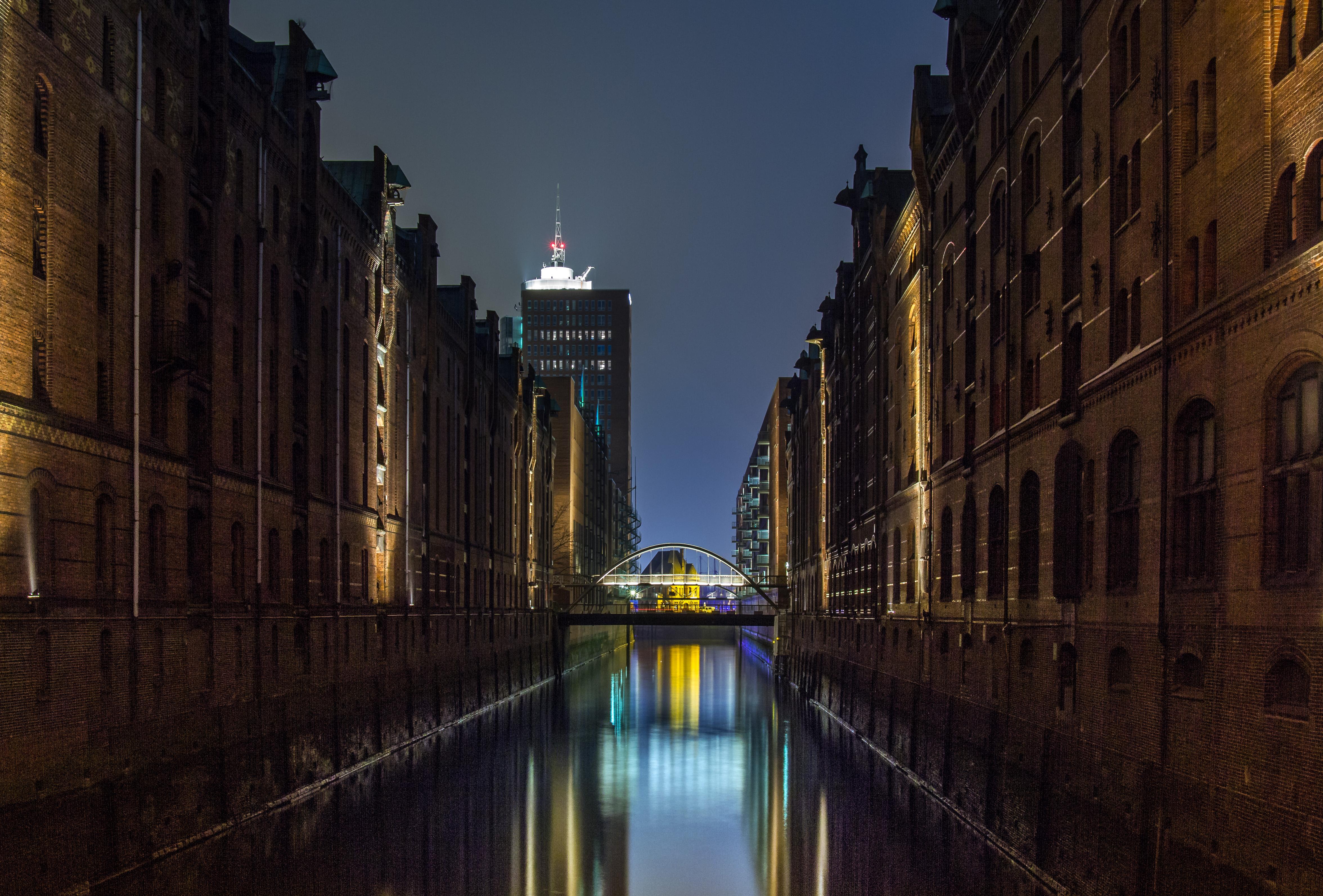 Speicherstadt, blaue Stunde
